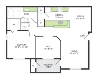 1 Bedroom / Den