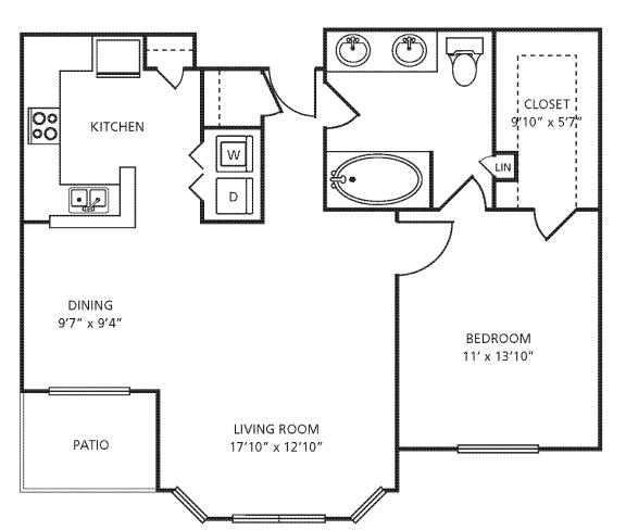 Floor Plan  A3 Floor Plan at Providence Uptown, Houston, Texas