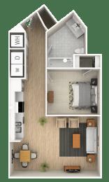 0 Bed 1Bath Floor Plan at The Point At Westside, Atlanta, GA