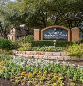 Welcoming community signage | Park at Monterey Oaks