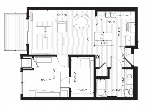 Floor Plan  Wren ACC Floorplan at Bird Town Flats, Minnesota