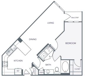 AVANT on Market Center - A3 - 1 bedroom and 1 bath