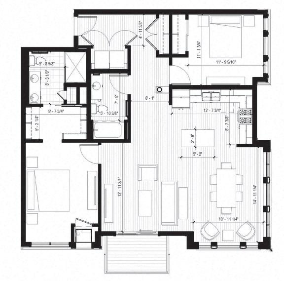 Floor Plan  Gull Floorplan at Bird Town Flats, Robbinsdale, Minnesota