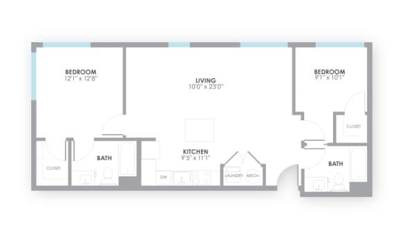 Floor Plan  Switch Floor Plan at AMP Apartments, Louisville, KY, 40206