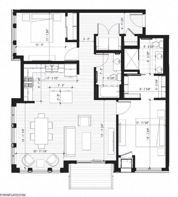 Floor Plan  Willet Floorplan at Bird Town Flats, Minnesota