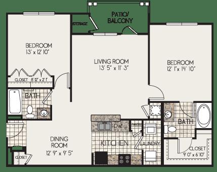 Floor Plan  B2-N