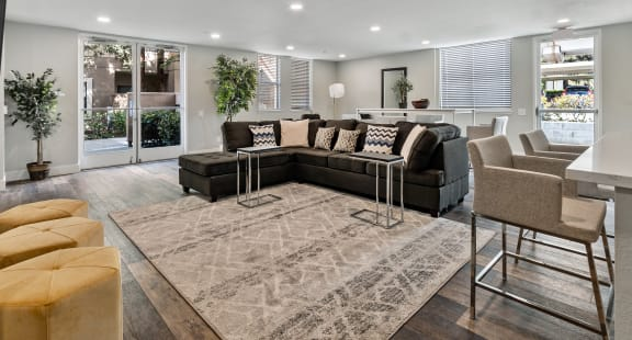 Living Room Views at Del Norte Place Apartment Homes