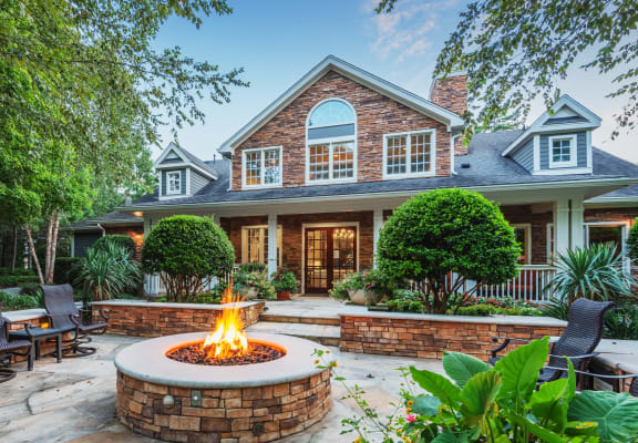 fire pit and clubhouse