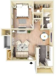 Floor Plan at Hawthorne House, Midland, TX, 79705