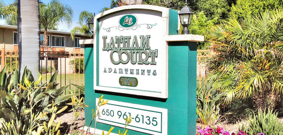 Property Signage at Latham Court, Mountain View