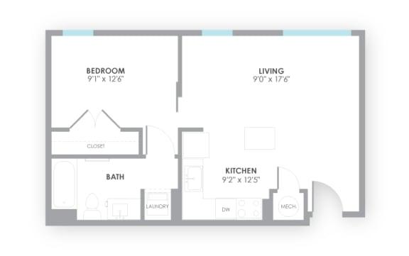 Floor Plan  Gauge Floor Plan at AMP Apartments, Kentucky