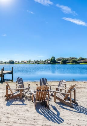 Fire pit with Adirondack Chairs  | Lakes at Suntree