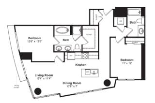 Floorplan at Cirrus, Seattle, WA 98121