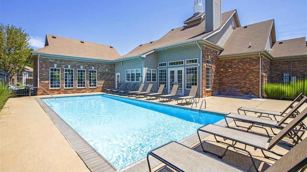 Swimming Pool With Relaxing Sundecks at Overlook at Valley Ridge, Indiana